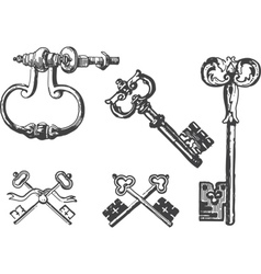 Old keys vector image vector image