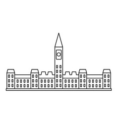 Parliament building in ottawa icon outline style vector