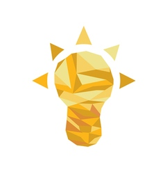 Polygonal Idea Icon with geometrical figures vector image