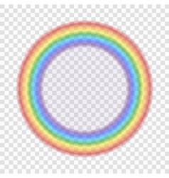 Rainbow icon realistic 7 vector image vector image
