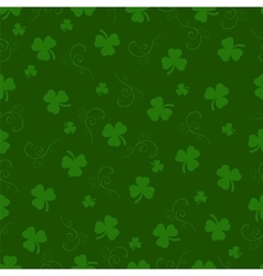 St Patrick day background Seamless pattern vector image