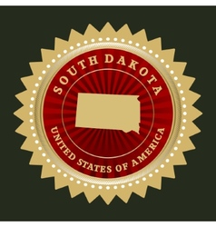Star label South Dakota vector image vector image
