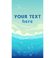 Vertical sea background vector