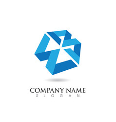 w letter logo template design vector image