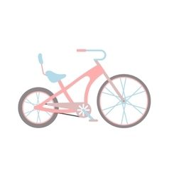 Womens pink bicycle isolated on white background vector