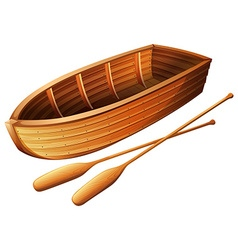 Wooden boat on white vector