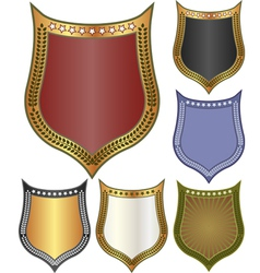 backgrounds - shield vector image