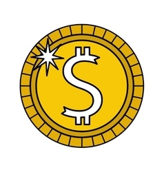 Money coins finance icon vector