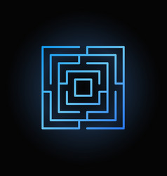 blue labyrinth or maze icon vector image