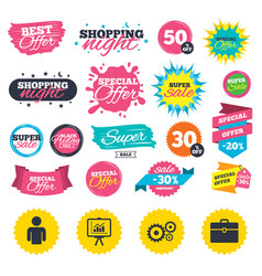 Business signs human and presentation board vector