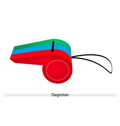 A whistle of the republic of dagestan vector
