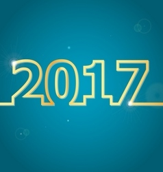 2017 happy new year on blue background vector