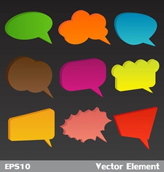3D Bubbles Speech vector image vector image