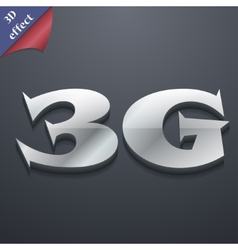 3g icon symbol 3d style trendy modern design with vector