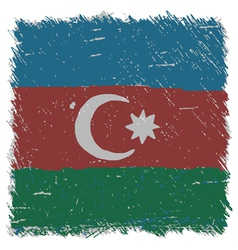 Flag of azerbaijan handmade square shape vector