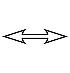 Size Arrow Horizontal Outline Icon vector image