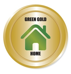 Green gold home vector