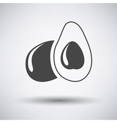 Avocado icon on gray background vector image