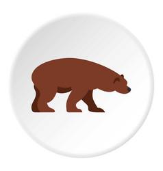 Bear icon circle vector