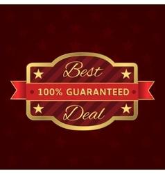 Best deal label vector image vector image