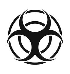 Biohazard sign round simple icon vector
