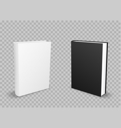 black and white standing books vector image vector image