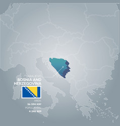 bosnia and herzegovina information map vector image vector image