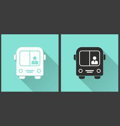 bus - icon vector image