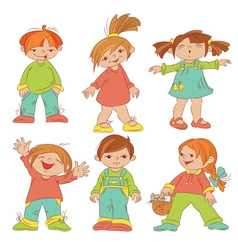 children sketches vector image vector image