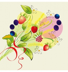 colorful illustration with forest flowers vector image