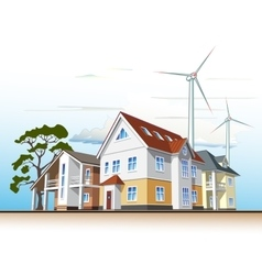 Country houses alternative energy vector