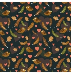 feathers and birds pattern vector image