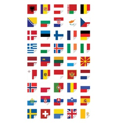Flags of European States vector image