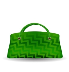 Green handbag vector