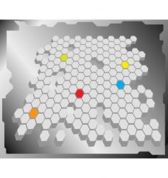 hex grid vector image vector image