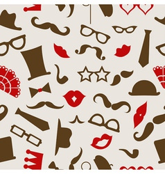 Hipster seamless pattern vector image