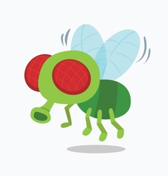Housefly insect fly cartoon vector