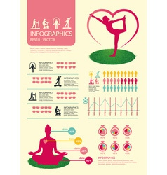 infographic sport for health vector image vector image