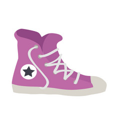 isolated violet sport footwear of vector image vector image