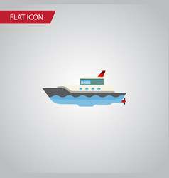 isolated yacht flat icon sailboat element vector image vector image