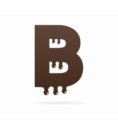 Letter B logo or symbol icon vector image