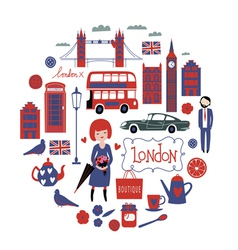 London round composition vector image vector image
