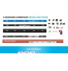 menus vector image vector image