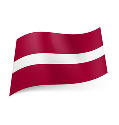 National flag of latvia narrow white stripe vector