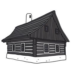Old folk house vector