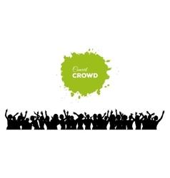 People concert crowd vector