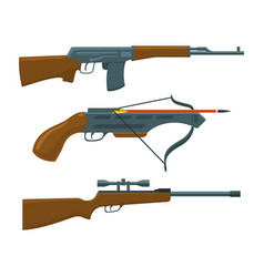 rifle submachine gun crossbow vector image