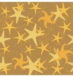 Sea stars seamless pattern vector