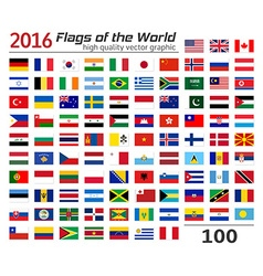 Set of flags of different countries vector