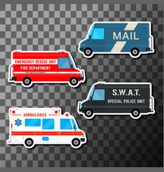 Set of service vans vector